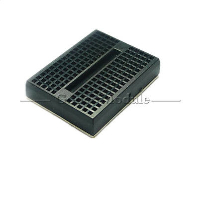 Mini Black Solderless Prototype Breadboard 170 Tie-points for Arduino Shield GM