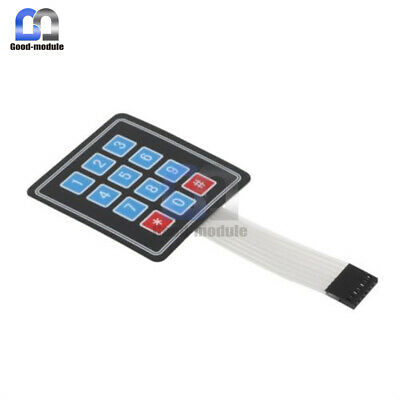 4 x 3 Matrix Array 12 Key Membrane Switch Keypad Keyboard for Arduino/AVR/PI GM
