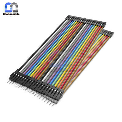 40PCS Dupont wire jumpercables 20cm 2.54MM male to female 1P-1P For Arduino GM