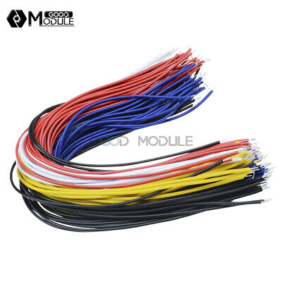 100Pcs 20CM Color Flexible Two Ends Tin-plated Breadboard Jumper Cable Wires GM