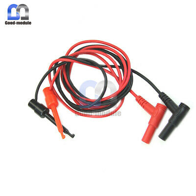 1Pair For Multimeter Test Equipment Banana Plug To Test Hook Clip Probe Cable GM
