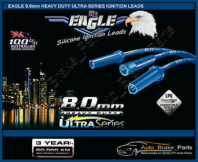 EAGLE 8mm H/Duty ULTRA Series Leads for MITSUBISHI PAJERO NH 4Cyl 2.6L 4G54 Eng