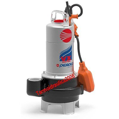 VORTEX Submersible Pump Sewage Water VXm15/50N 1,5Hp 230V vx Pedrollo Cable10m