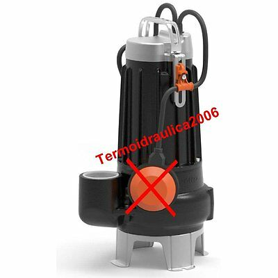 VORTEX Submersible Pump Sewage Water VXC8/35 0,75Hp 400V 50Hz Cable10m Pedrollo