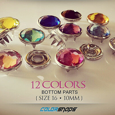 SIZE 16 | Colored Jewelry Pearl Snap Fastener No Sew Press Snaps Popper Gripper