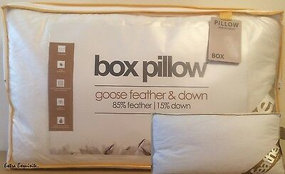 Luxury Hotel Quality 85% Goose Feather &15% Down Filling Box Pillow-Xtra Filling