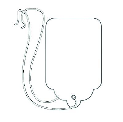 """1000 pcs. #2 White Jewelry Merchandise Price Tags with string 125 """" x 075"""""""