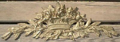 -Importante Corniche Louis XVI en Bronze Antique Cornice Architectural Ancien