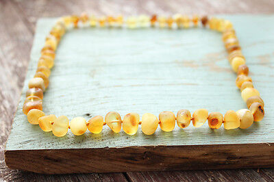 Thick bead Baltic amber necklace for women