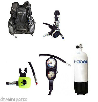 Scuba Set Performance Diver R1A  Zodiac BCD with Faber Steel 12.2 Litre Cylinder
