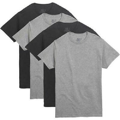 FRUIT OF THE LOOM MEN'S 4 PACK COLOR CREW T-SHIRTS Sizes S-4X
