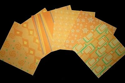 """*PASTEL ORANGE*  Double-sided Scrapbooking/Cardmaking Papers-15cm x15cm (6""""x 6"""")"""