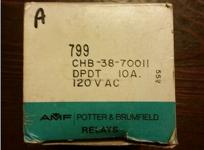 Potter & Brumfield Chb-38-70011 Time Delay Relay, 1-10 Sec.