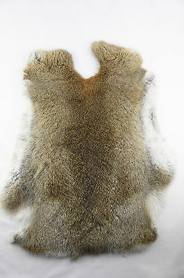 Genuine rabbit fur tanned skin color natural fur Crafts-gray