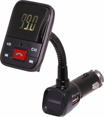 Bluetooth & FM Transmitter Handsfree Car Kit with USB Charger 5V 2.1A & remote