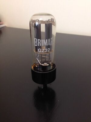 Gz32 Brimar Straight Glass Nos Valve/tube (Lc15)