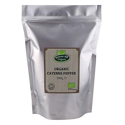 Organic Cayenne Pepper Certified Organic by the Soil Association