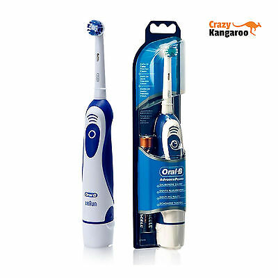 Neu Original Braun Oral-B Advance Power Zahnbürste 2 AA Batterien inklusive