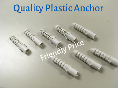 NO.5-10 Plastic Anchor 100 PCS (Drill and Screw)