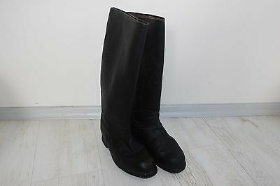 Old Vintage German Type Bulgarian Officer Military Combat Leather Boots 4