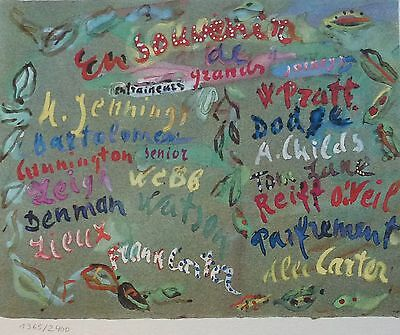 """Constantin Terechkovitch """"In memory of ..."""" SIGNED HAND NUMBERED  LITHOGRAPH"""