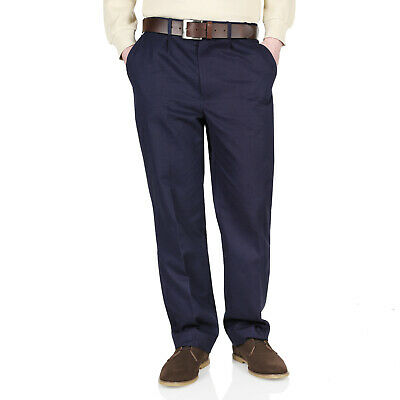 New Mens Chinos Trousers Cotton Elasticated Waist Stretch Pants Straight Leg Fit