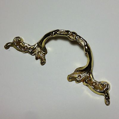 Ornate tray cabinet drawer cupboard cast brass handle in Polished Brass Finish