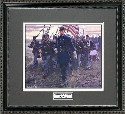 Mort Kunstler CHAMBERLAIN THE 20TH MAINE Framed Print Civil War Wall Art Gift