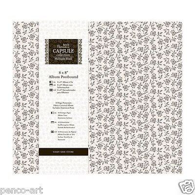 "Papermania scrapbook memory ALBUM 8x8"" capsule collection in Midnight blush"