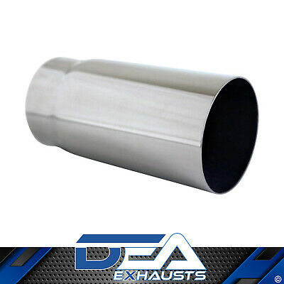Exhaust Tip Straight Cut Stainless Steel Outlet 2 1/2'' Inlet 2 1/4'' Length 5''