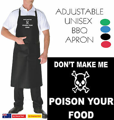 Poison your food FUNNY apron T-ShirtS NEW BBQ Chef adjustable Men's Women's cook