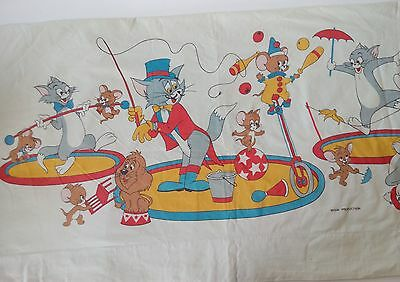 Vintage MGM Productions Tom and Jerry Flat Top Sheet 1970's VG Condition Rare