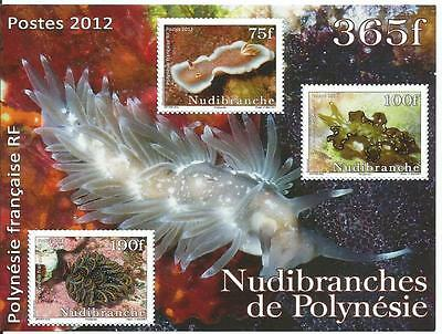 French Polynesia Nudibranchs Miniature Sheet Mnh 2012