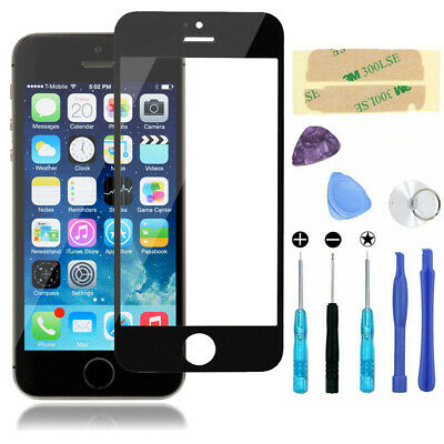 Black Front Screen Glass Lens Replacement for Apple iPhone 4/4S Repair Tools Kit