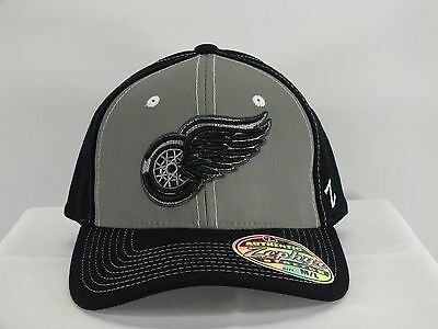 Detroit Red Wings Nhl Adult Flex Fit M/l Preshaped New Hat Cap By Zephyr A119
