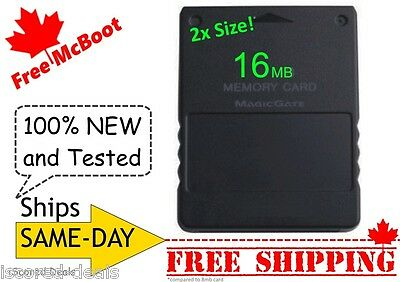 Free McBoot Sony PlayStation 2 PS2 Memory Card (16MB) 100% New FMCB ALL-Regions