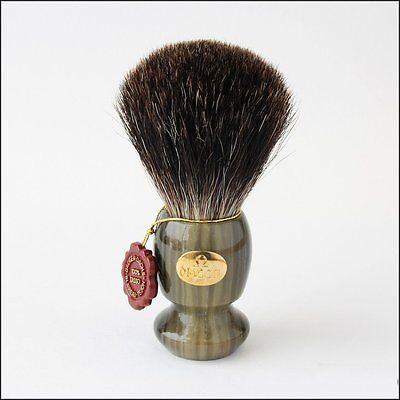 Omega Green and Gold Pure Badger Shaving Brush - #6223 100% pure badger hair