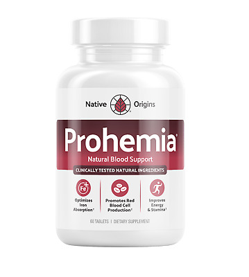 Prohemia - Natural Blood Support Anemia Care, 60 Tablets - OFFICIAL LISTING!