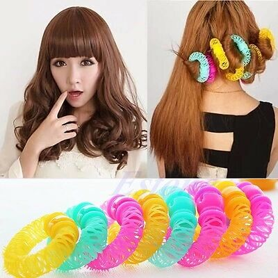 6pcs 8pcs Hairdress Magic Bendy Hair Styling Roller Curler Spiral Curls DIY Tool