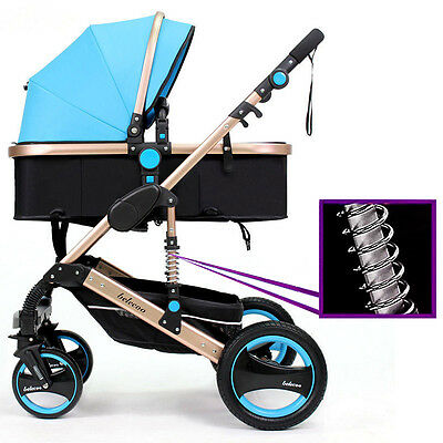 New Belecoo Baby Carriage Foldable Travel System Stroller Buggy Pushchair Pram