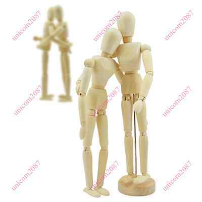 Wooden Manikin Figures Jointed Doll Model Painting Artist Drawing Mannequin Unic