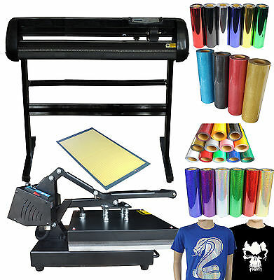 "34"" Vinyl Cutting Plotter Heat Press  Vinyl  T-shirt Transfer Bundle"