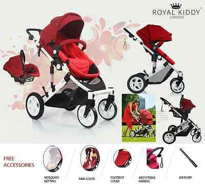 Royal Voyager Baby Jogger Pram Pushchair Stroller 3 In 1 With Car Seat Complete
