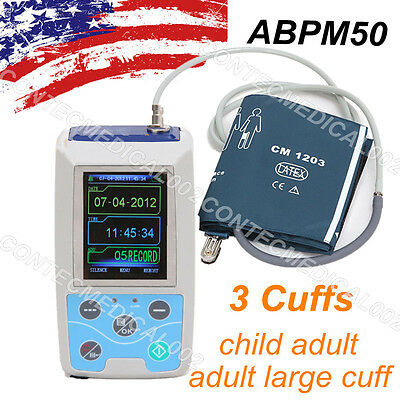 FDA 24h NIBP Ambulatory Blood Pressure Monitor, USB Software, ABPM50 Holter