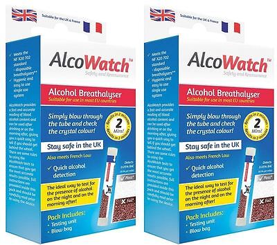 New Alcohol Breathalyzer NF Approved For Driving In France Twin Pack Disposable