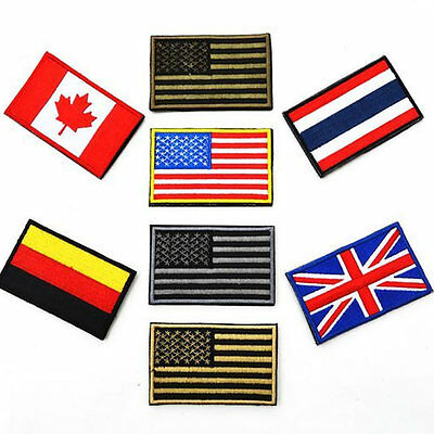 National Flag Army Tactical Morale Embroidered Badge Swat Patch Wholesale