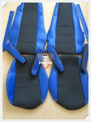 VOLVO FH/FM 02-13 Blue ECO LEATHER SEAT COVERS