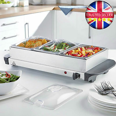 Buffet Server 3x 1.5L Trays, Cool Touch Handles, Great for Curries & Roast's etc