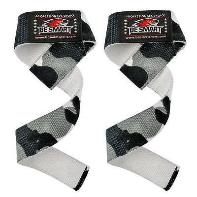 Padded Weight Lifting Training Gym Straps Hand Bar Wrist Support Glove Wrap Camo