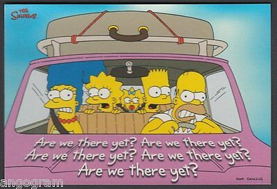 MODERN POSTCARD - The Simpsons. Are We There Yet? X879